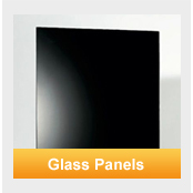 black and white glass panel heaters